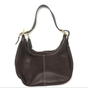 Coach Brown Leather Hobo Purse Bag